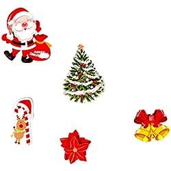 Strungten Fensterbild Weihnachten Entfernbarer Wandaufkleber PVC Cling Aufkleber Wiederverwendbare Weihnachtsschmuck mit Schneeflocke Weihnachtsbaum Geschenk Socken Weihnachtsmann
