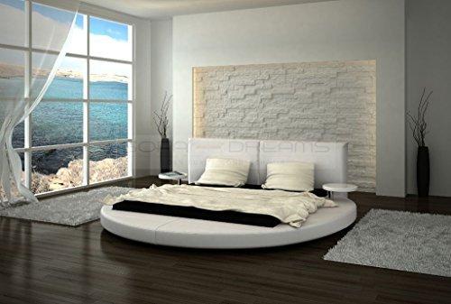 Wasserbett ROMA von Sofa Dreams 180 x 200 cm in weiß, mit Dual Kern