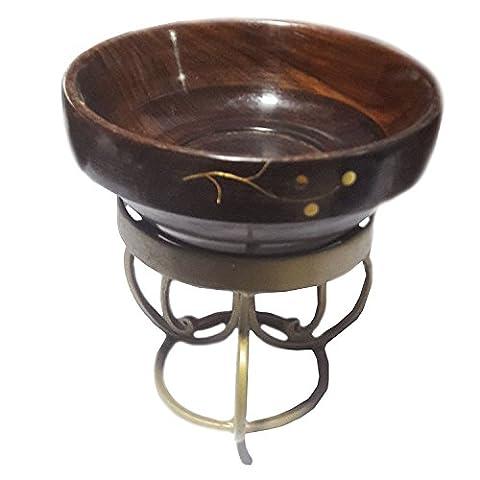 Merci de donner un cadeau pour vos amoureux Cuvette en bois avec support inlay travail servir bol stand 5in