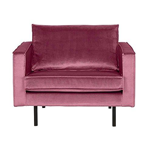 Pharao24 Lounge Sessel in Pink Samtbezug