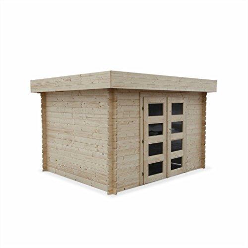 Abri de jardin à toit plat