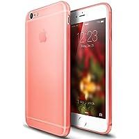 VAPIAO iPhone 6, 6s Cover opaco di cristallo TPU Custodia Cover posteriore Back Case Rose Rosa