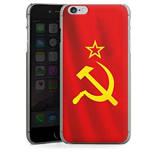 Apple iPhone 5s Housse étui coque protection URSS Drapeau Faucille et marteau CasDur anthracite clair