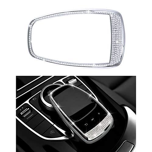 Preisvergleich Produktbild Mercedes-Zubehörteile Benz Teile Trim Touchpad BEFEHL Bildschirm Zentrale Multimedia-Bedienelemente Kappen Bezüge Innenblenden Dekorationen W204 X204 W166 X166 C Klasse GLK AMG Bling Kristall (Silber)