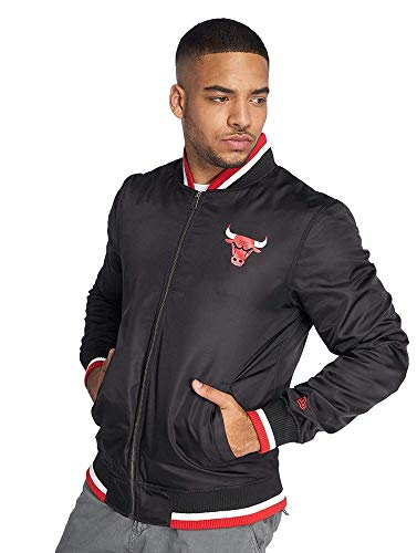 New Era Herren Übergangsjacken NBA Team Chicago Bulls Varsity schwarz M Team-varsity-jacke