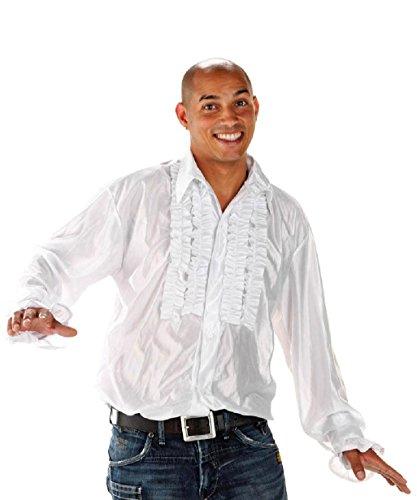 Folat 21953 - Disco Shirt, M/L, weiß (Disco Shirt Polyester)