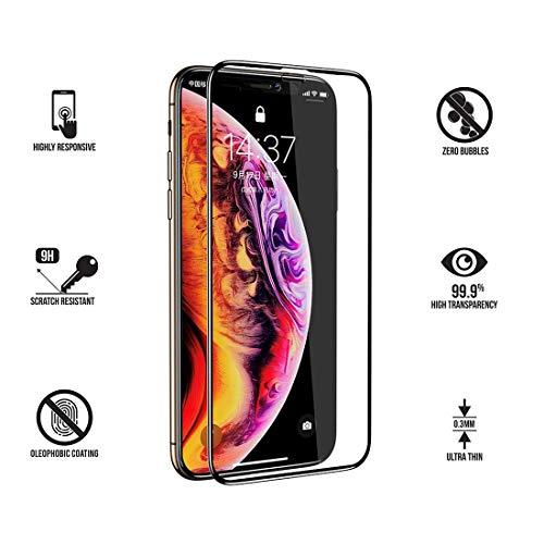 Panzerglas Schutzfolie für iPhone XS/iPhone X, vaxiuja iPhone XS/iPhone X Displayschutzfolie mit Positionierhilfe, 3D 9H Härte, Anti-Kratzen, Anti-Öl, Anti-Bläschen, [5.8 Zoll (iphone xs film)