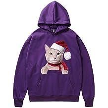 Sylar Sudaderas Hombre con Capucha 2018 Invierno Navidad Estampado De Gato Manga Larga Caliente Jersey Suelto