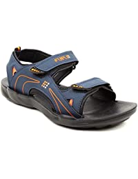 FUEL Men's Boy's Fashionable Latest Summer Collection Designer Comfortable Velcro Closure Solid Casual Floaters...