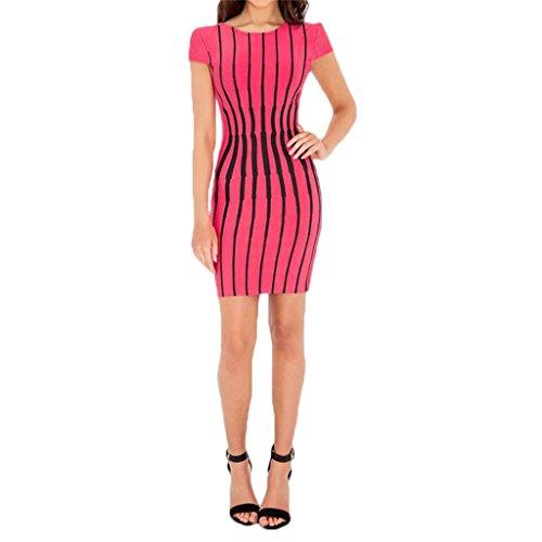 Waooh - Kleider Kurz Grafisches Muster Krap Rosa