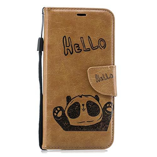 Capa Lomogo [Huawei Mate 20 PRO], Suporte de Cartão de Crédito para Carteira de Couro com Fecho Magnético para Huawei Mate20 PRO - LOBFE14083 Castanho