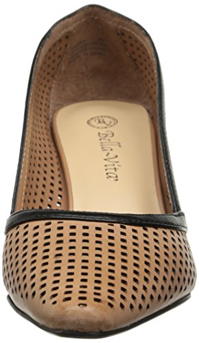 Bella Vita Willa Large Cuir Talons Camel-black