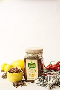 Lemon Black/Ayurvedic Pickle/Nimbu Kala Achar- 400 gm Homemade, Farm fresh, Preservative Free, Gourmet Foods & Traditional Taste - By The Little Farm Co