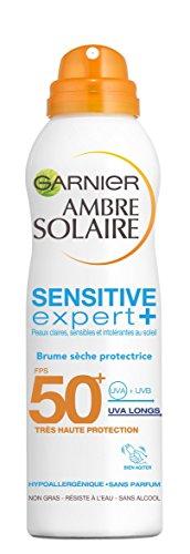 Garnier Ambre Solaire Sensitive Expert+ Brume Sèche Protectrice FPS 50+ 200 ml - Lot de 2