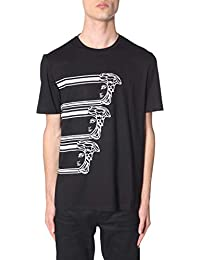 30da2909 VERSACE COLLECTION Men's V800683RVJ00595V7008 Black Cotton T-Shirt