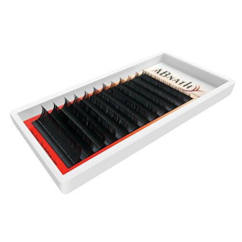 Preisvergleich Produktbild ABNATHY Lange Künstliche Wimpern Weiche Eyelasches Party Make-up 0.05mm-0.25mm Dicke C Curl In 1 Ein Tray (0.05mm Dicke- 8-14mm Mischlänge)