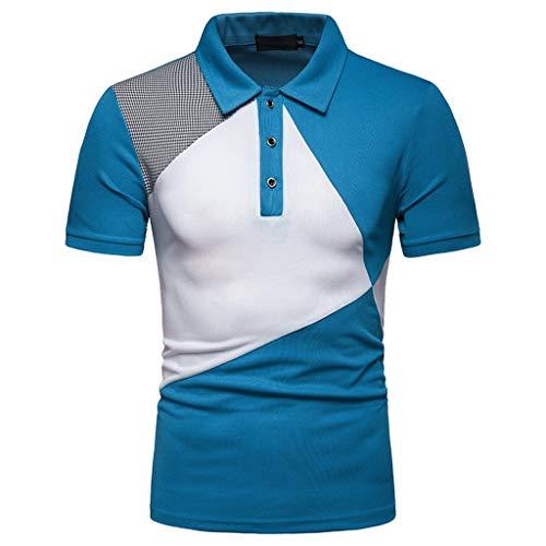 CICIYONER Poloshirts Herren Einfacher Stil, Nähstil 100% Baumwolle Polo Pique Polo Shirt Kurzarm mit Polokragen S M L XL XXL -