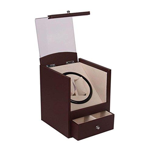 Red Date Piano Paint Watch Box automatische rotierende Uhr Motor Box Doppel nur Uhr Aufbewahrungsbox (Doppel-e-motoren)