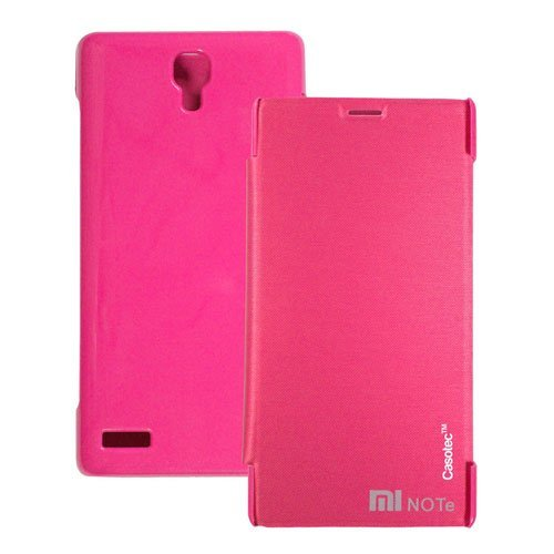 Casotec Premium Flip Case Cover for Xiaomi Redmi Note - Pink  available at amazon for Rs.179