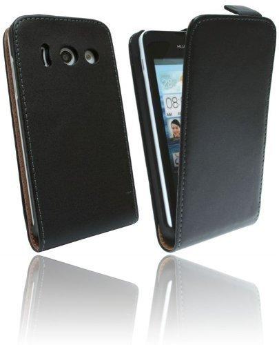 Handytasche Flip Style für Huawei Ascend Y300 in Schwarz Klapptasche Hülle @ Energmix