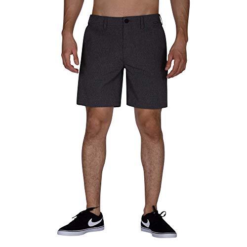 Hurley Herren M Phantom Boardwalk 18.5' Shorts, Black Heather, 32 -