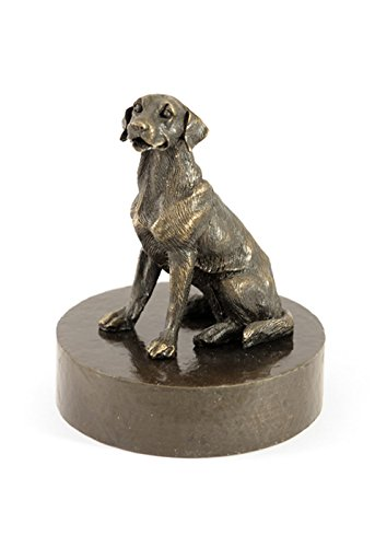 Urne aus Bronze 'Golden Retriever'