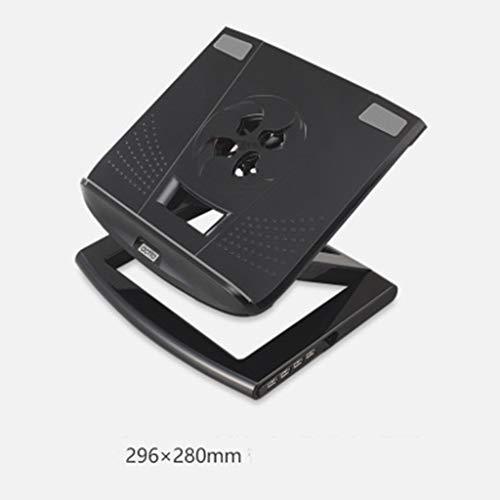 LBYMYB Computerständer Hubständer Notebook höhenverstellbarer Tray-Mount-Kühler Laptop-Kühler (Color : Black) -