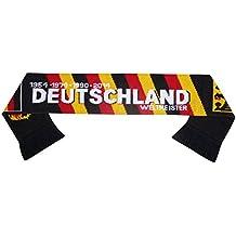 Deutschland Bufanda de fútbol Alemania negra