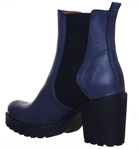 Justin Reece  7000,  Damen Chelsea Boots Navy FF
