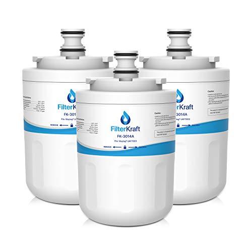 FilterKraft FK-3014A Kompatible Wasserfilter-Kartusche, Ersatz für Maytag Jenn-Air PUR PuriClean UKF7003; Beko AP930; EDR7D1; Lamona HJA6100; Leisure APL13963B (3) - Jenn-air-ersatz