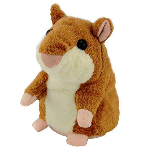 Hámster Hablando, el Ratón mascota repite todo lo que ha dicho, Sacudiendo la cabeza y el cuerpo, juguete de peluche de algodón animal, Rata electrónica interactiva de hámster para niños 14x8x8 cm