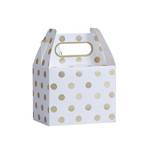Geschenkboxen, gold, weiß | 5 Stück