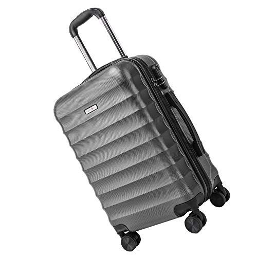 Carryone bagaglio a mano trolley valigie valigia rigida leggera, 55cm, 34liters, per viaggio td2(grigio)