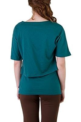 Ajna Design Fuchsia Oversize Damen Shirt + Top Yoga Set petrol