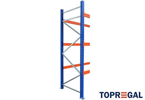 Palettenregal Industrieregal 7,6m breit, 3m hoch, 110cm tief, 3 Ebenen – Hochregal Schwerlastregal - 5