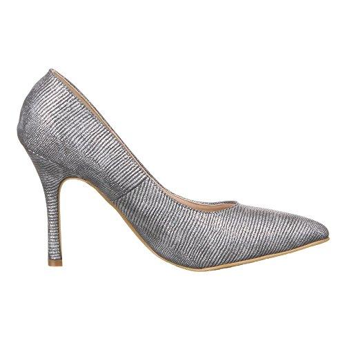 Damen Schuhe, 50246, PUMPS Silber