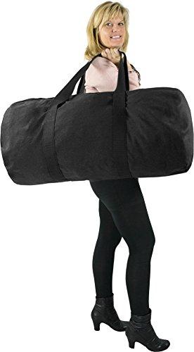 Canvas Seesack Universal Tasche aus reiner Baumwolle Schwarz