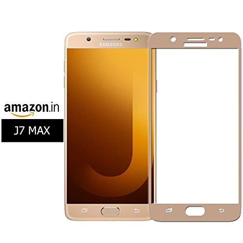 Full Body Tempered For Samsung Galaxy On Max, Roxel (TM) 3D Arc Edge Full Body Front Edge to Edge Tempered Glass Screen Scratch Guard Protector for Samsung Galaxy On Max (Gold, 32 GB)/Samsung Galaxy On Max (Black, 32 GB) - Royal Gold  available at amazon for Rs.259