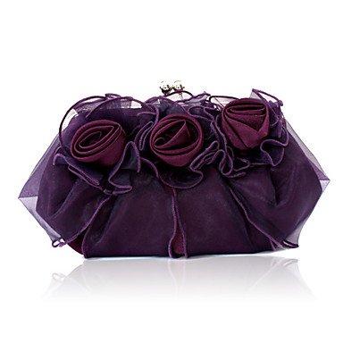 SUNNY KEY-Pochette e Clutch@Donna Raso/Satin Serata/evento Borsa da sera Bianco / Rosa / Marrone / Rosso / Argento , purple purple