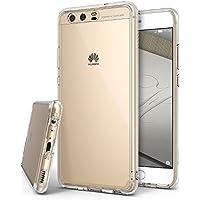 Funda Huawei P10, Ringke [FUSION] Protector de TPU con Parte Posterior Transparente de PC Carcasa Protectora Biselada para Huawei P10 2017 - Transparente Clear