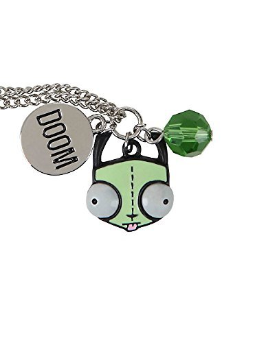 invader-zim-gir-head-doom-multi-charm-necklace-too-cute-by-nickelodeon