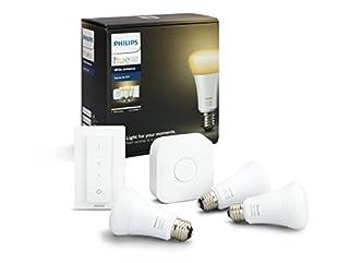 Philips Hue Kit de Démarrage White And Ambiance avec 3XE27 - 9W [Pont et Interrupteur avec Variateur Inclus] - Fonctionne avec Alexa (B0748MZ3Y6) | Amazon Products