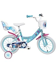Mondo–25282–Bicicleta la Reine des Neiges–14pulgadas