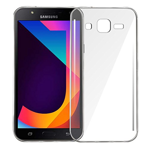 MOBIFIT Thermoplastic and Polyurethane Back Cover for Samsung Galaxy J7(Transparent)