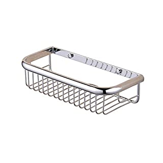 ASDFG Chrome Bathroom Shower Shelf Basket 11.8