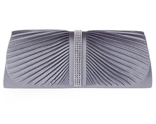 ERGEOB Damen Technologiepaket , Abendtasche, harte Schale Tasche schwarz grau
