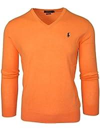 Ralph Lauren - pull ralph lauren col V orange