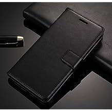 Febelo () Vintage Leather Magnetic Lock Wallet Flip Cover Case for Redmi Y1/Redmi Y1 Lite - Vintage Black