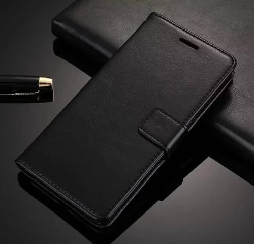 Febelo Xiaomi Redmi Note 5 Pro (2018) PU Leather Magnetic Lock Flip Cover Case For Xiaomi Redmi Note 5 Pro (2018) - Vintage Black