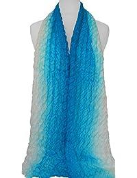 Écharpe en soie, froissement style, 100% soie, coloré, soie fait à la main